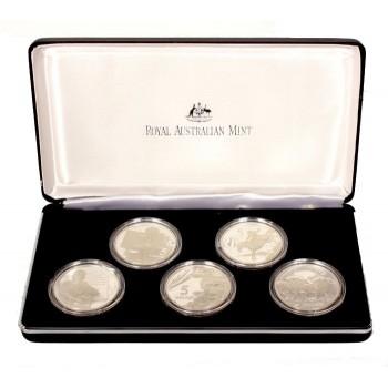 1996 Australian Masterpieces in Silver 5-Coin Set