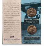 1997 Australian Sir Charles Kingsford Smith 2-Coin Uncirculated Set