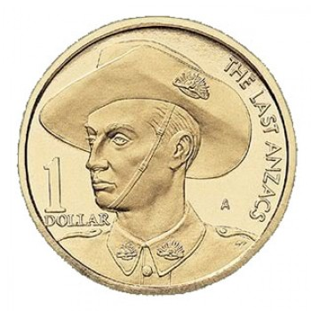 1999 Australian Last ANZACS $1 Uncirculated Coin - A Mint Mark