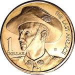 1999 Australian Last ANZACS $1 Uncirculated Coin - B Mint Mark