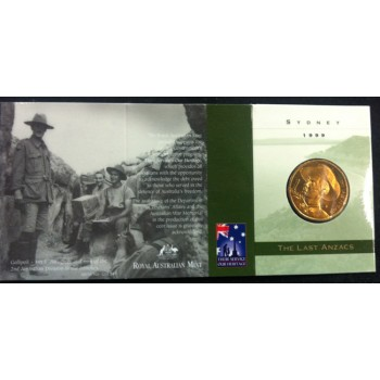 1999 Australian Last ANZACS $1 Uncirculated Coin - S Mint Mark