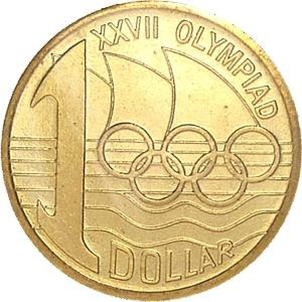 2000 sydney olympic 1 uncirculated coin c mint mark