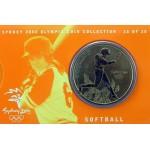 2000 Sydney Olympic $5 Unciruclated Coin - Softball
