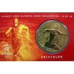 2000 Sydney Olympic $5 Unciruclated Coin - Triathlon