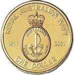 2001 Australian 90 Years of Navy $1 Uncirculated Coin