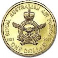 2001 Australian 80 Years of Air Force $1 Uncirculated Coin