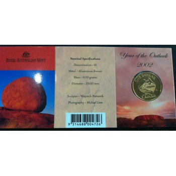 2002 Australian Year of the Outback $1 Uncirculated Coin - S Mint Mark
