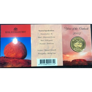 2002 Australian Year of the Outback $1 Uncirculated Coin - C Mint Mark