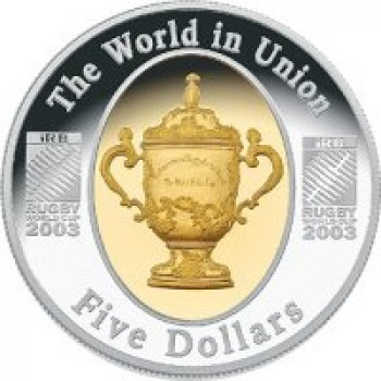 2003 Australian Rugby World Cup 1oz Silver Proof Coin