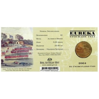 2004 Australian Eureka Stockade $1 Uncirculated Coin - S Mint Mark