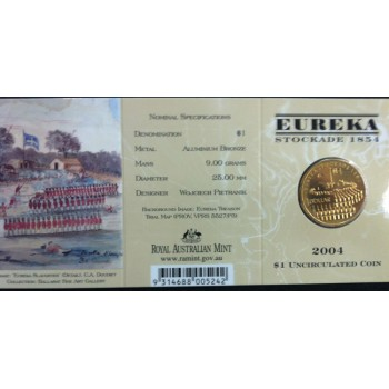 2004 Australian Eureka Stockade $1 Uncirculated Coin - C Mint Mark