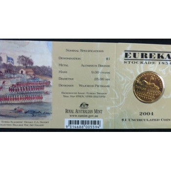 2004 Australian Eureka Stockade $1 Uncirculated Coin - E Mint Mark