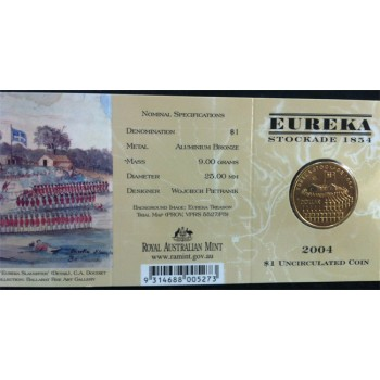 2004 Australian Eureka Stockade $1 Uncirculated Coin - M Mint Mark