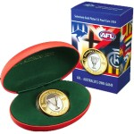 2004 Australian AFL $5 Selective Gold Plated Coin