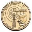 2006 Australian 50 Year of TV $1 Uncirculated Coin - C Mint Mark