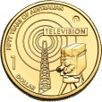 2006 Australian 50 Year of TV $1 Uncirculated Coin - TV Mint Mark