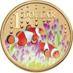 2006 Australian $1 Coloured Ocean Series Coin - Clown Fish