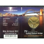 2007 Australian 75th Anniversary of the Harbour Bridge $1 Uncirculated Coin - C Mint Mark