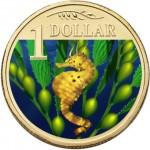2007 Australian $1 Coloured Ocean Series Coin - Bigbelly Seahorse