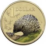 2008 AUSTRALIAN LAND SERIES $1 COIN - ECHIDNA