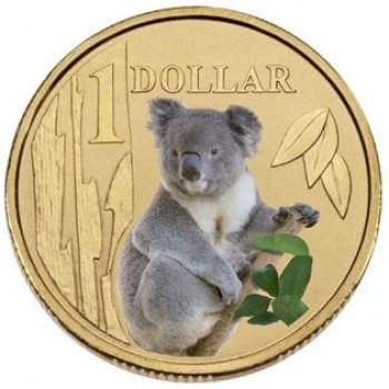 2008 AUSTRALIAN LAND SERIES $1 COIN - KOALA
