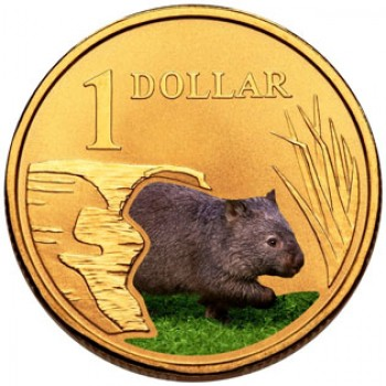 2008 AUSTRALIAN LAND SERIES $1 COIN - WOMBAT