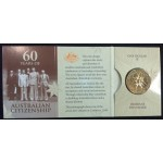 2009 60 Years fo Australian Citizenship $1 Uncirculated Coin - B Mint Mark