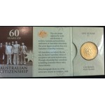 2009 60 Years fo Australian Citizenship $1 Uncirculated Coin - C Mint Mark