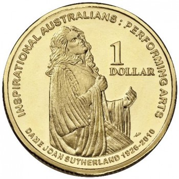 2011 $1 Dame Joan Sutherland Uncirculated Coin