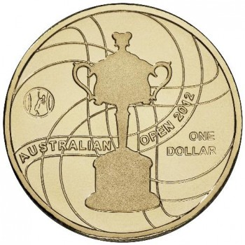 2012 $1 Official Australian Open Women's Trophy Uncirculated Coin