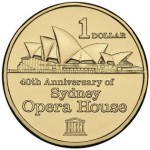 2013 Australia $1 AlBr 40th Anniversary of Sydney Opera House