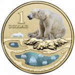 2013 AUSTRALIAN POLAR $1 COLOURED COIN SERIES - POLAR BEAR