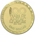 2018 $1 Spirit Lives 100 Years of ANZAC Mint Roll