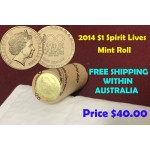 2014 $1 Spirit Lives 100 Years of ANZAC Mint Roll