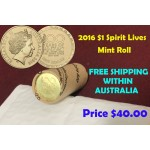 2016 $1 Spirit Lives 100 Years of ANZAC Mint Roll
