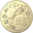 2020 $1 Year of the Rat 2-Coin Uncirculated Set