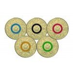 2016 $2 Olympic Team Coloured Five Coin Set