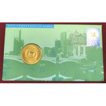 2006 Commonwealth Games First Day Coin and Stamp Cover