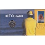 2007 AUSTRALIAN LIFESAVERS FIRST DAY COIN AND STAMP COVER