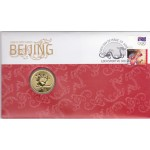 2008 BEIJING OLYMPICS FIRST DAY COIN AND STAMP COVER