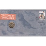 2008 AUSTRALIAN 100 YEARS OF QUARANTINE FIRST DAY COIN AND STAMP COVER