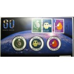 2009 EARTH HOUR FIRST DAY MEDALLION AND STAMP SET