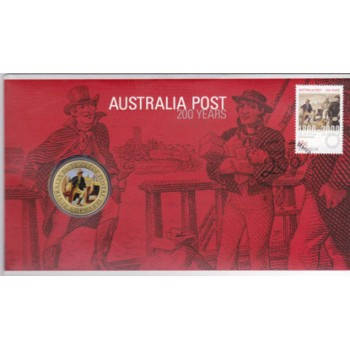 2009 AUSTRALIAN 200 YEARS OF POST FIRST DAY COIN AND STAMP COVER