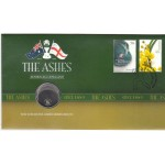 2010 AUSTRALIAN ASHES SERIES FIRST DAY COIN AND STAMP COVER