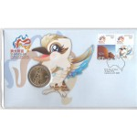 2010 SHANGHAI WORLD EXPO FIRST DAY COIN AND STAMP COVER