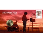 2009 AUSTRALIAN 200 YEARS OF POST FIRST DAY COIN AND STAMP COVER FROM RAM