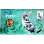 2011 AUSTRALIAN BUSH BABIES FIRST DAY COIN AND STAMP COVER - BILBY