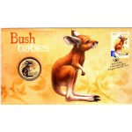 2011 AUSTRALIAN BUSH BABIES FIRST DAY COIN AND STAMP COVER - KANGAROO