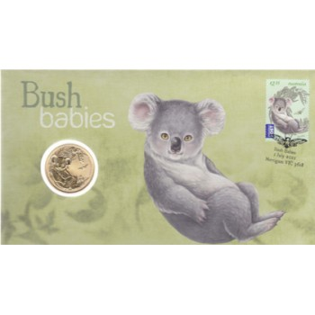 2011 AUSTRALIAN BUSH BABIES FIRST DAY COIN AND STAMP COVER - KOALA