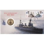 2011 AUSTRALIAN 100 YEARS OF NAVY FIRST DAY COIN AND STAMP COVER